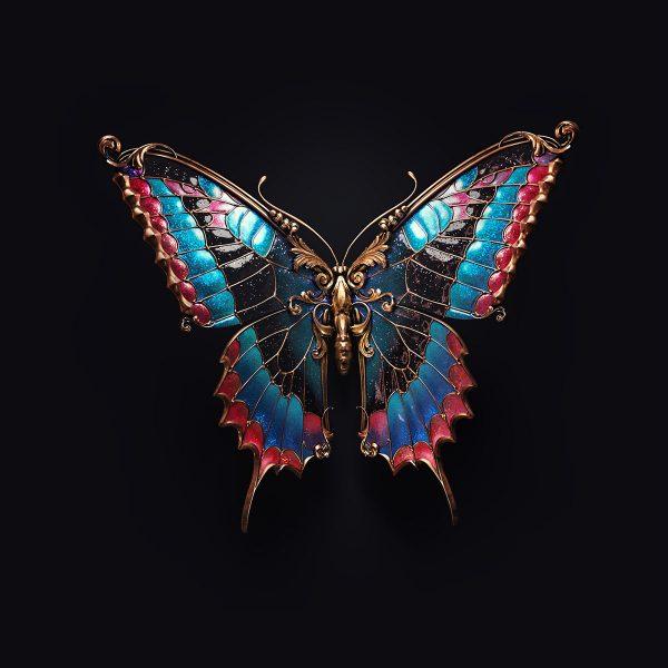 Jewel insects, jewelry design by Sasha Vinogradova