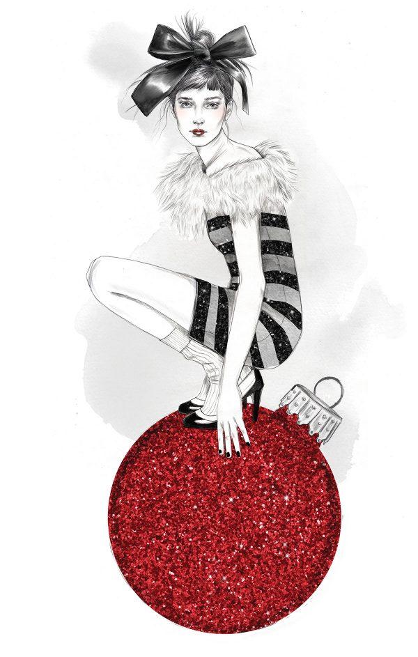 Seasons Greetings, illustration by Tracy Turnbull