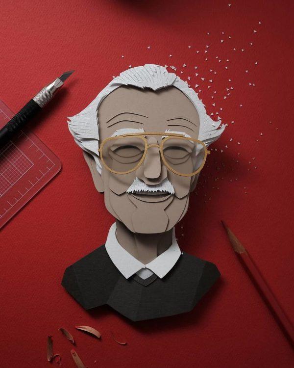 Famous pop culture characters, paper art by John Ed De Vera