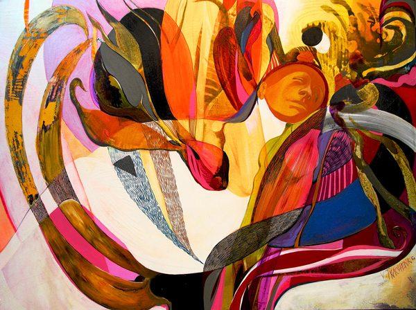Flowers, painting by Victor Tkachenko