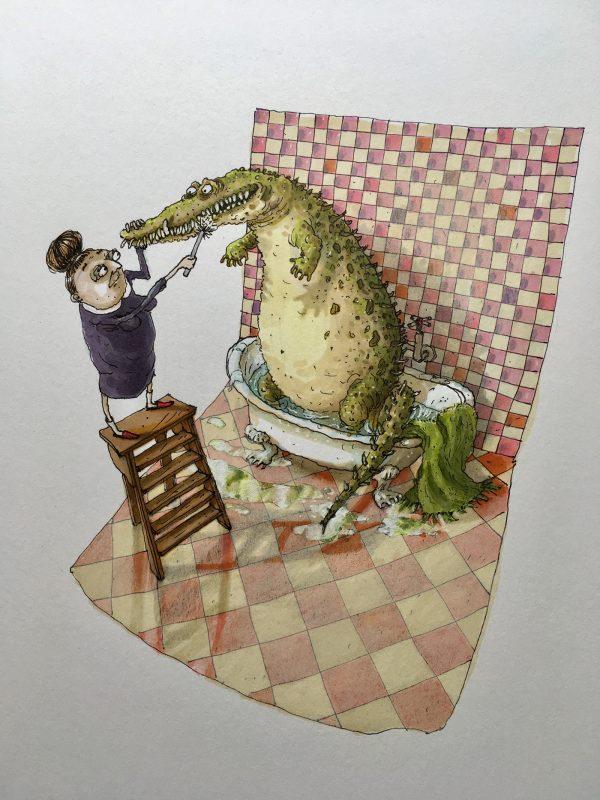 Secrets de Quartiers, illustration by Nathalie Vessié-Hodges