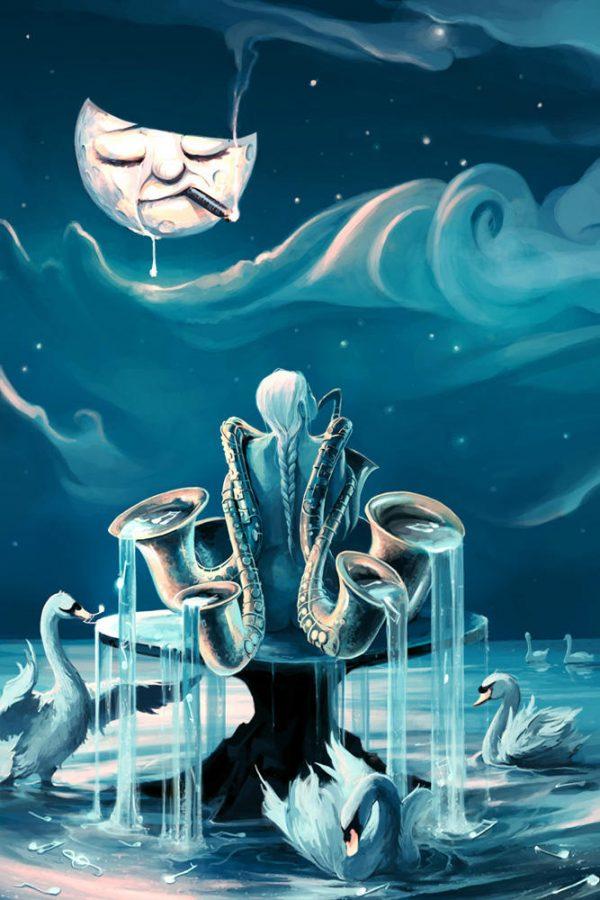 The Human Orchestra, digital art by Cyril Rolando