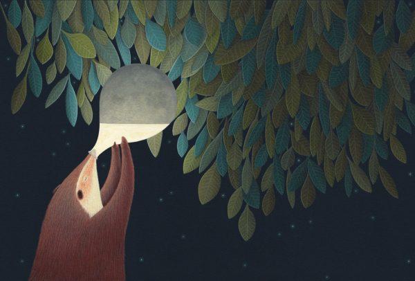 The Moon's magical mythology, illustration by David Álvarez