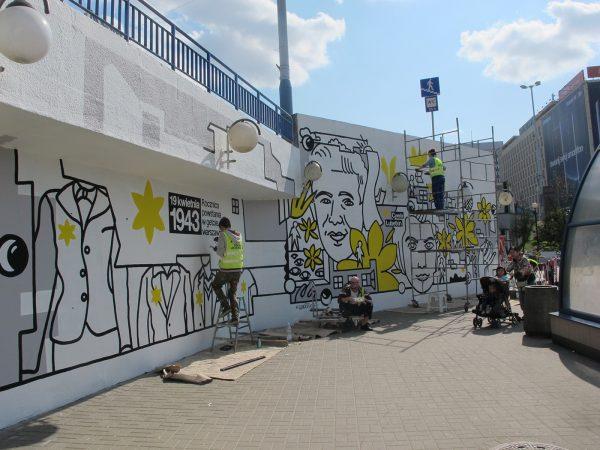 Mural for Museum of Polish Jews POLIN