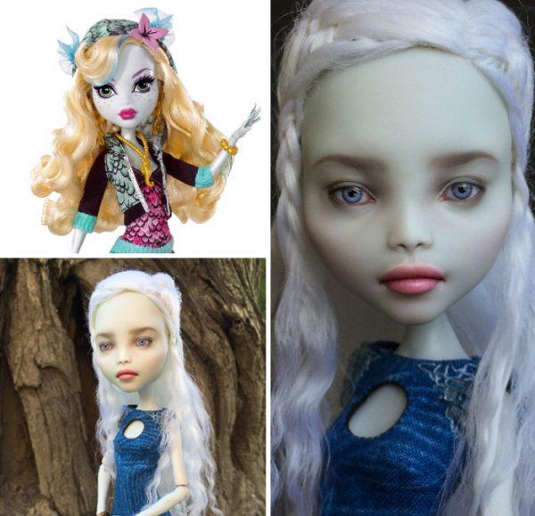 Olga Kamenetskaya remove makeup from dolls to repaint them