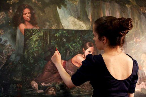 Fantastical natural worlds, paintings by Mia Araujo