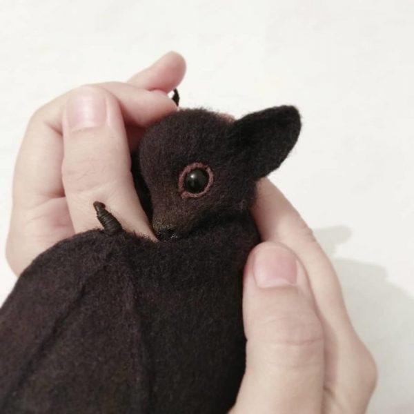 Handmade felted wool toys by Anna Yastrezhembovskaya