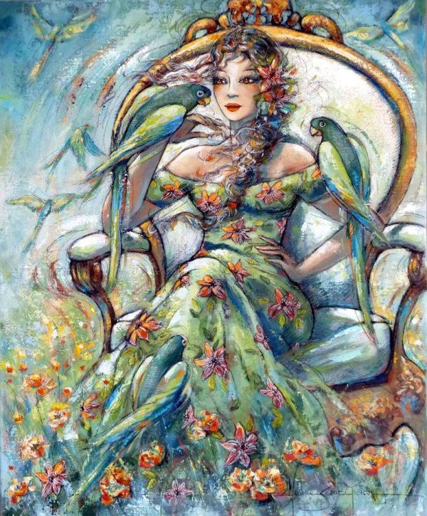 Paintings by Jeanne Saint Chéron