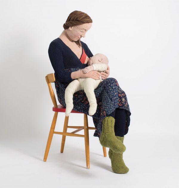 Seeing Double: Life-size crocheted figures by Liisa Hietanen