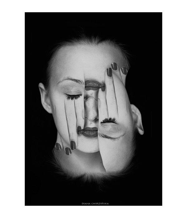 Faces (series of self-portraits) photography by Diana Chyrzyńska
