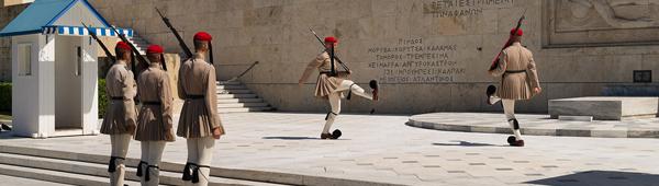 Athens - change of guard, photography by Michał Skarbiński