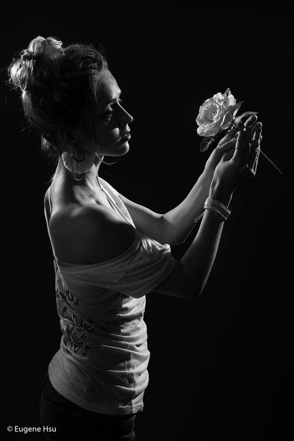 Julia - Studio B&W, photography by Eugene Hsu