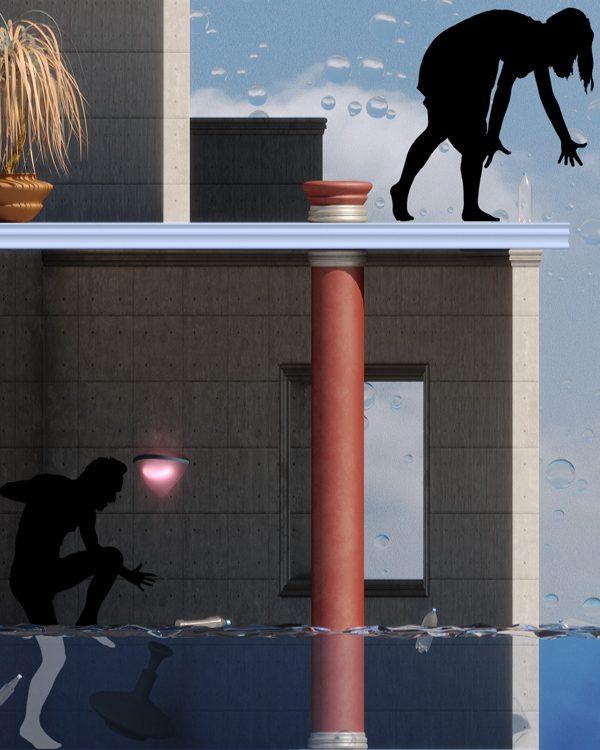 New Atlantis, illustration by Adam Martinakis