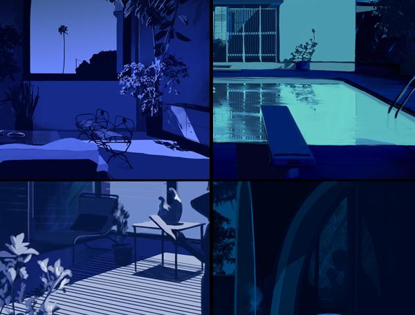 California Blues, illustration by Spiros Halaris