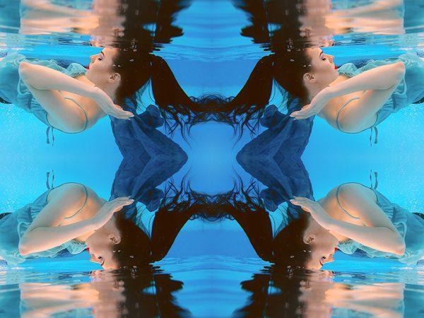 """Alice In Underwaterland"" Ilona Underwater, photography by   Kateryna Mostova"
