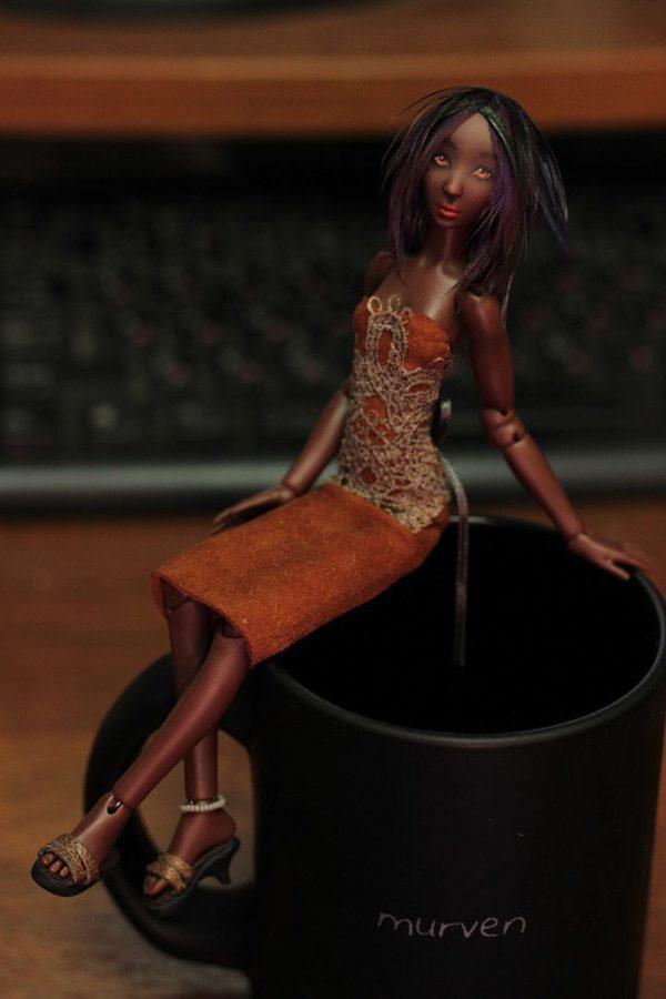 Chocolate girls, miniature BJD by Maria Pikunova